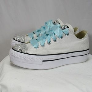 Converse Chuck Taylor Platfrom BLING Wedding Shoes